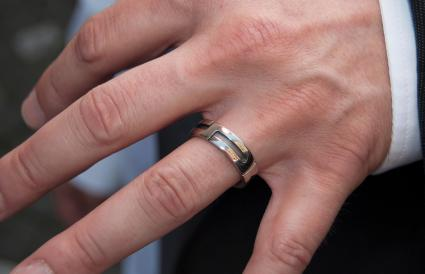 Cropped Hand Wearing Wedding Ring