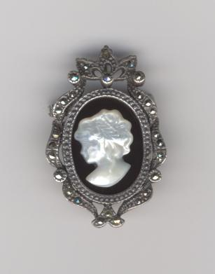 Cameo with Marcasite