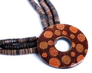Wooden Bohemian necklace