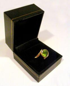Peridot ring not a cushion cut