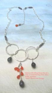 Balance carnelian labradorite necklace