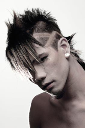 Punk guy with earring