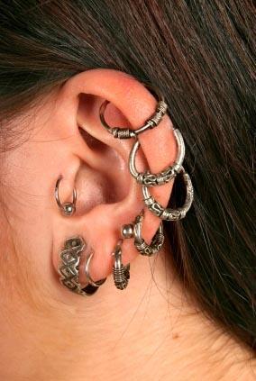 925 Silver earrings,Front Back earrings,Ear jacket,Double sided earrings,Two sided-Hex climbers mini hoops,tiny minimal-huggy-gold earrings