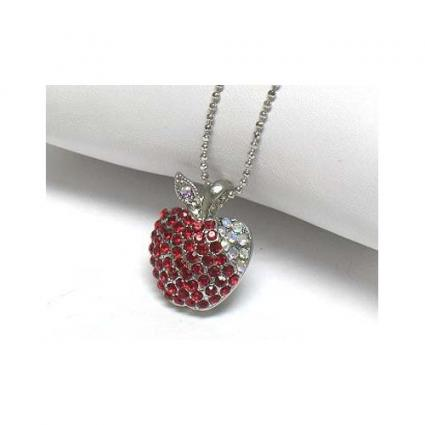 Jeweled apple pendant jeweled apple pendants aloadofball Images