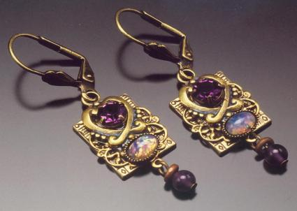 Victorian-style earrings from Byrd Designs