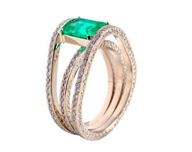 Synthetic Emerald Rings