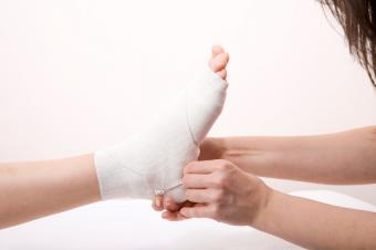 wrapping ankle