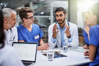 Doctors having a meeting