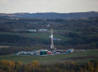 A hydro-fracking operation Robinson Township, Pennsylvania