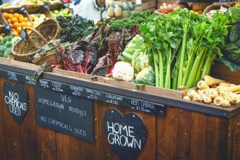 Vegetable stall in farmer market