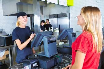 Checkout Server Serving Customer