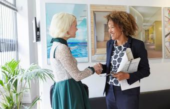 woman working with a client