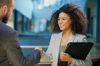 job applicant shaking hands