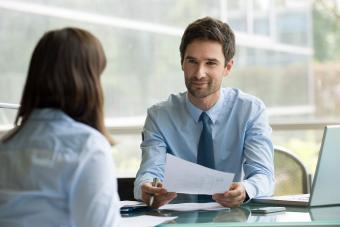 Man interviewing for a job