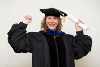 Happy graduate ready to begin her career