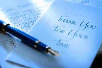 Sample Thank You for Interview Letter