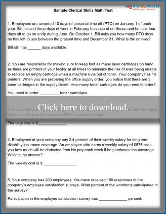 Free Pre Employment Clerical Test | LoveToKnow