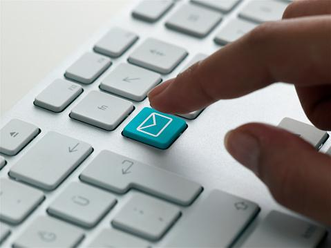 Keyboard email button
