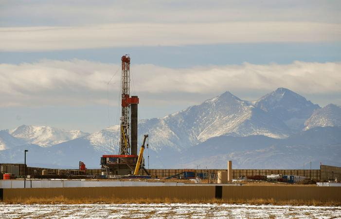 A fracking operation in Colorado