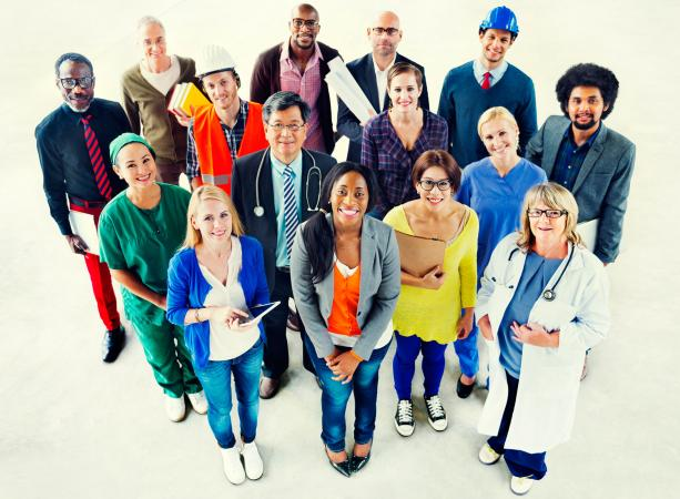 Group of career professionals