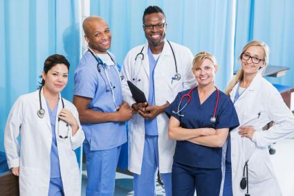 Group of health science professionals