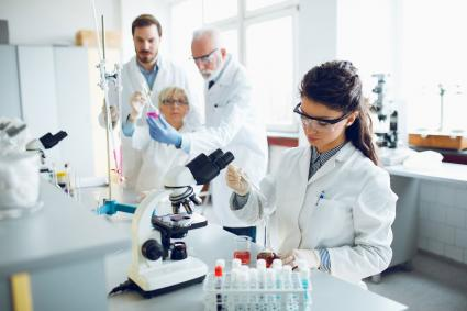 Group of scientists in lab