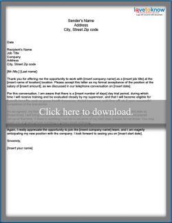 Job Acceptance Letter | Sample Job Acceptance Letter
