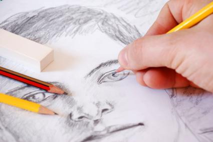 Sketch Artist drawing a boy