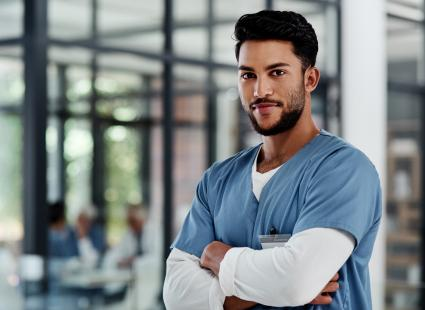 Male nurse at hospital