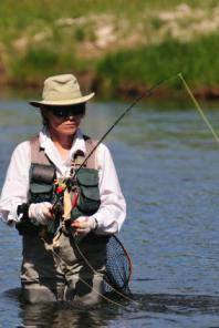 Image of a Fly Fishing Guide at work