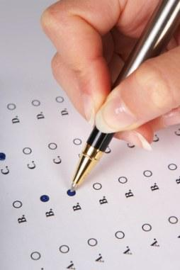 Taking a multiple choice pre-employment test