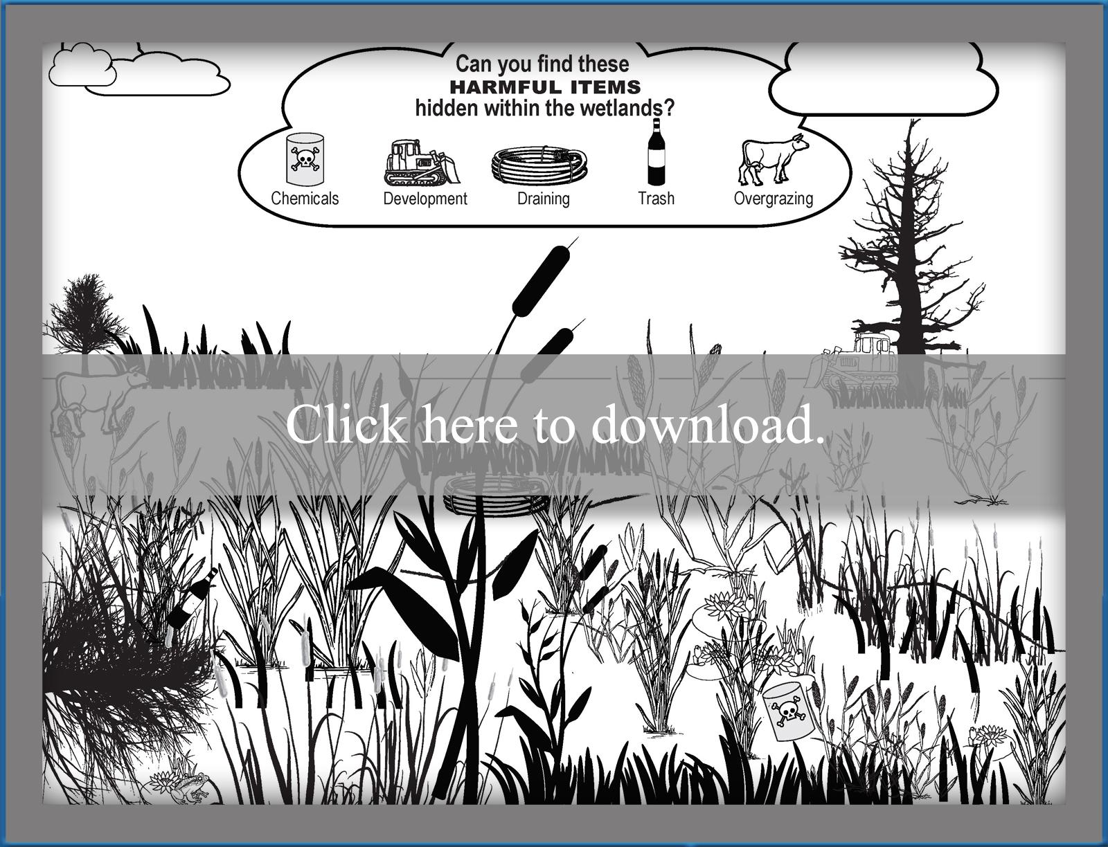 printable wetland search and find worksheet - Search And Find Pictures Printable