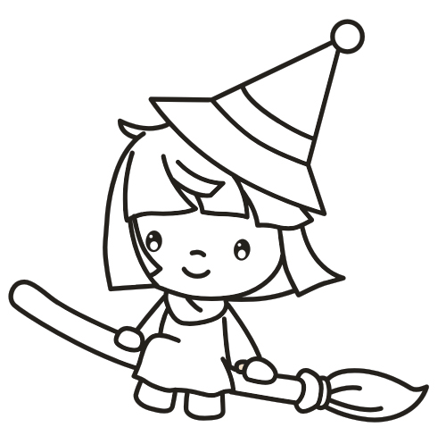witch coloring page - Pictures Of Witches To Colour In