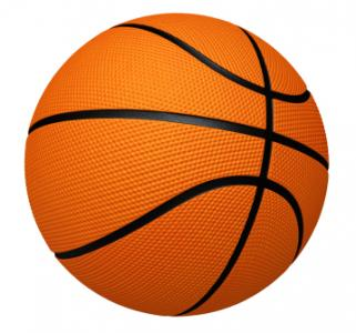 Graphic image of a basketball