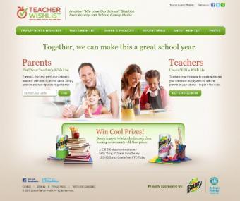 home page for teacherwishlist.com