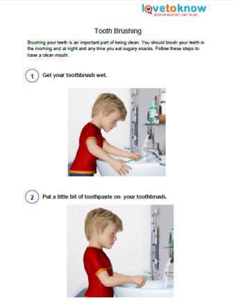 tooth brushing printable