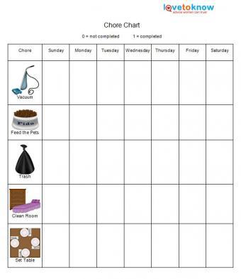elementary chore chart