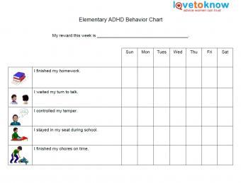 elementary behavior chart for adhd