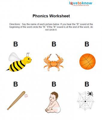 letter 'b' worksheet