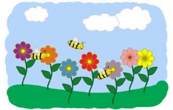 full set of spring clip art