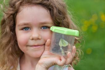 girl with bug