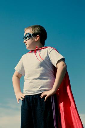 Superhero on duty