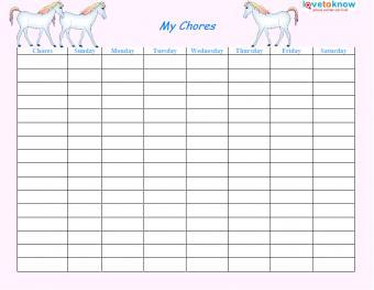 horse chore chart