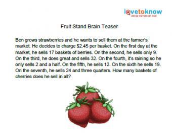 fruit stand brain teaser