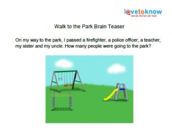 walk to the park brain teaser