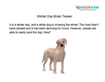 winter day brain teaser