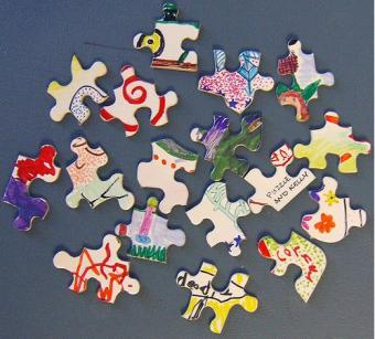 Kids hand-drawn puzzle