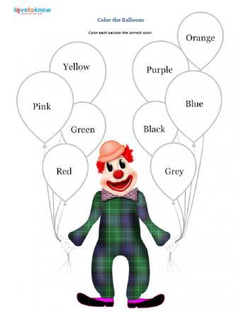 color preschool printable worksheet