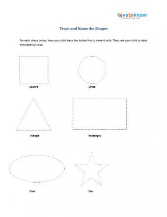 Preschool printable on shapes
