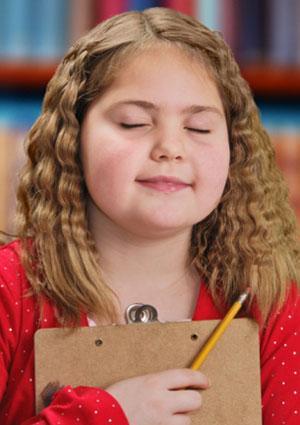 girl memorizing